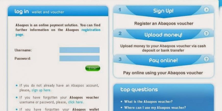 Como abrir uma conta no website da Abaqoos 2
