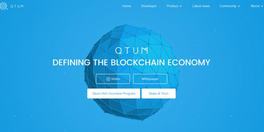 Sítio Web QTUM 2