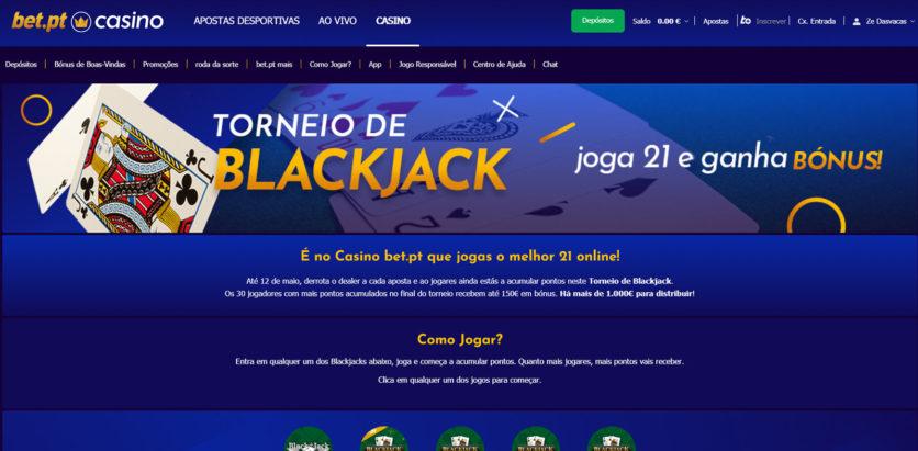 Registo Bet pt casino site