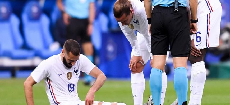 França: Benzema sai ferido em amigável contra a Bulgária - Conseguirá ele chegar ao EURO? - Melap.PT